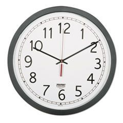 "6645016238824, Quartz Wall Clock, 16 1/2"", White Face, Black"