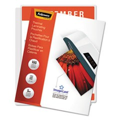 "1ImageLast Laminating Pouches with UV Protection, 5 mil, 9"" x 11.5"", Clear, 100/Pack"