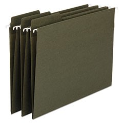 FasTab 100% Recycled Hanging File Folders, 1/3-Cut  Tab, Legal, Green, 20/Box