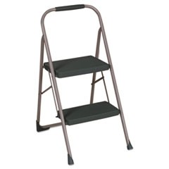 "Big Step Folding Stool, 2-Step, 200 lb Capacity, 22"" Spread, Black/Gray"