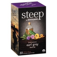 steep Tea, Earl Grey, 1.28 oz Tea Bag, 20/Box