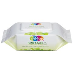 Hands and Face Cleansing Wipes, 7 x 6, White, Fragrance-Free, 110/Pk, 6 Pk/Ctn