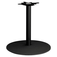 "Single Column Hospitality Base, 28"" dia. x 27-7/8h, Black"