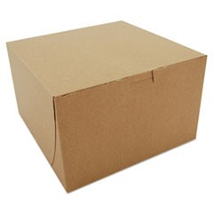 Bakery Boxes, Kraft, Paperboard, 8 x 8 x 5, 100/Carton