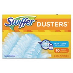 Refill Dusters, Dust Lock Fiber, Light Blue, Unscented, 10/Box, 4 Box/Carton