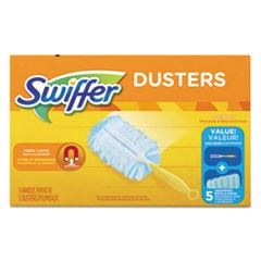 "Dusters Starter Kit, Dust Lock Fiber, 6"" Handle, Blue/Yellow"