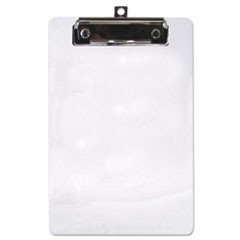"Plastic Clipboard, 1/2"" Capacity, 6 x 9 Sheets, Clear"