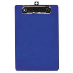 "Plastic Clipboard, 1/2"" Capacity, 6 x 9 Sheets, Blue"