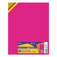 1Premium Coated Poster Board, 11 x 14, Assorted, 5/Pack