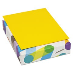 BriteHue Multipurpose Colored Paper, 24lb, 8 1/2 x 11, Sun Yellow, 500 Sheets