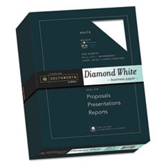 25% Cotton Diamond White Business Paper, 95 Bright, 20 lb, 8.5 x 11, 500/Ream