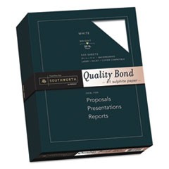 Quality Bond Business Paper, 95 Bright, 20 lb, 8.5 x 11, White, 500/Ream