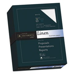 25% Cotton Linen Business Paper, 24lb, 91 Bright, 8 1/2 x 11, 500 Sheets