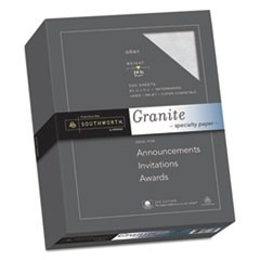 Granite Specialty Paper, Gray, 24lb, 8 1/2 x 11, 25% Cotton, 500 Sheets