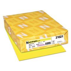 Astrobrights Colored Card Stock, 65 lb., 8-1/2 x 11, Lift-Off Lemon, 250 Sheets