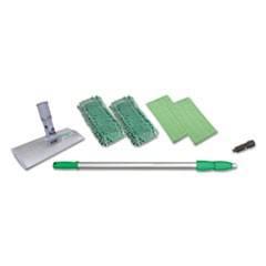 "Indoor Window Cleaning Kit, Aluminum, 72"" Extension Pole, 8"" Pad Holder"