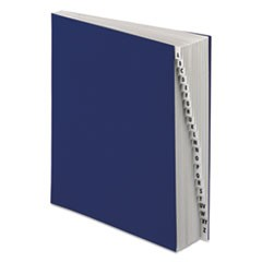 Expanding Desk File, 20 Dividers, Alpha, Letter-Size, Dark Blue Cover