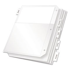 Poly Ring Binder Pockets, 11 x 8.5, Clear, 5/Pack