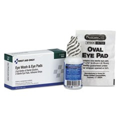 Eyewash Set w/Eyepads and Adhesive Strips