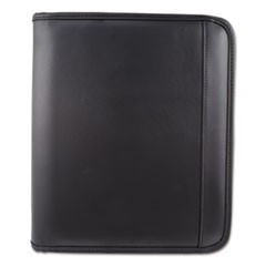 Writing Case, 9 x 10 3/4 x 1 1/2, Black, Leather