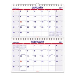Move-A-Page Two-Month Wall Calendar, 22 x 28 1/2, Move-A-Page, 2017-2018