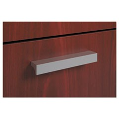 BL Series Field Installed Contemporary Pull, Linear, 4.75w x 0.75d x 0.75h, Silver, 2/Carton