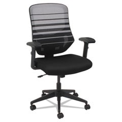Alera Embre Series Mesh Mid-Back Chair, Supports up to 275 lbs., Black Seat/White Back, Black Base