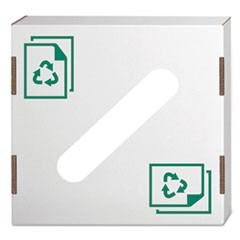 Waste and Recycling Bin Lid, Paper, White/Green Print, 10/Carton