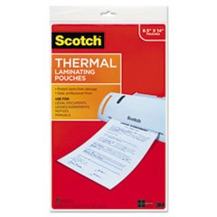 Menu Size Thermal Laminating Pouches, 3 mil, 8 1/2 x 14, 20/Pack