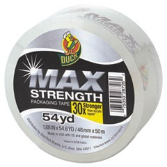 "MAX Packaging Tape, 1.88"" x 54.6 yds, 3"" Core, Crystal Clear, 18/Pack"