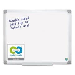 1Earth Silver Easy Clean Dry Erase Boards, 48 x 96, White, Aluminum Frame