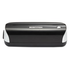 12-Sheet Electric Three-Hole Punch, Black