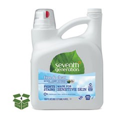 Natural 2X Concentrate Liquid Laundry Detergent, Free/Clear, 99 Loads,150oz,4/CT