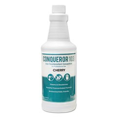 Conqueror 103 Odor Counteractant Concentrate, Cherry, 32oz Bottle, 12/Carton