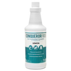 Conqueror 103 Odor Counteractant Concentrate, Lemon, 32oz Bottle, 12/Carton