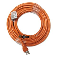 Indoor Extension Cord, Locking Plug, 50ft, Orange