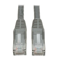 CAT6 Snagless Molded Patch Cable, 10 ft, Gray