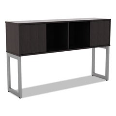 Alera Open Office Desk Series Hutch, 59w x 15d x 36.38h, Espresso