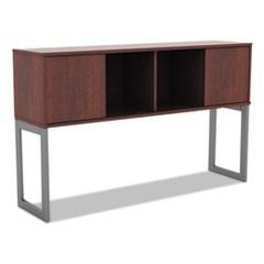 Alera Open Office Desk Series Hutch, 59w x 15d x 36.38h, Medium Cherry