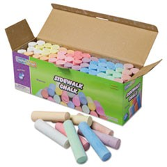 Sidewalk Chalk, 4 x 1 Dia. Jumbo Stick, 12 Assorted Colors, 52/Set