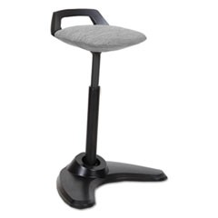 AdaptivErgo Sit to Stand Perch Stool, Gray with Black Base