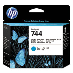 HP 744, (F9J86A) Photo Black/Cyan DesignJet Printhead