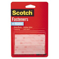 "Extreme Fasteners, 1"" x 3"", Clear, 2/Pack"