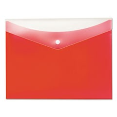 Poly Snap Envelope, Snap Closure, 8.5 x 11, Strawberry