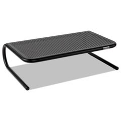 "Metal Art Monitor Stand, 19"" x 12.5"" x 5.25"", Black, Supports 30 lbs"