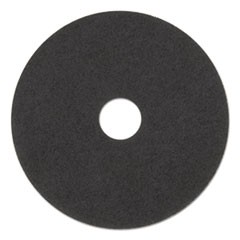 "High Performance Stripping Floor Pads, 20"" Diameter, Grayish Black, 5/Carton"