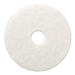 "Polishing Floor Pads, 12"" Diameter, White, 5/Carton"
