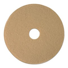 "Tan Burnishing Floor Pads, 19"" Diameter, 5/Carton"