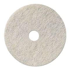 "Natural White Burnishing Floor Pads, 19"" Diameter, 5/Carton"