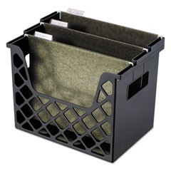 "Recycled Extra Capacity Desktop File Holder, Letter Size, 8.5"" Long, Black"